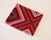 Red, White, and Black Dotted Lines Fabric - Fat Quarter - Destash