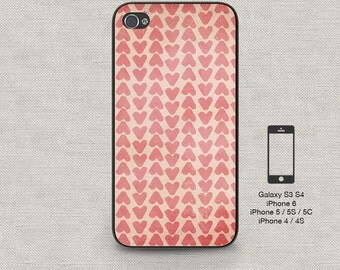 Cell phone case iphone 6 Pink Hearts 157