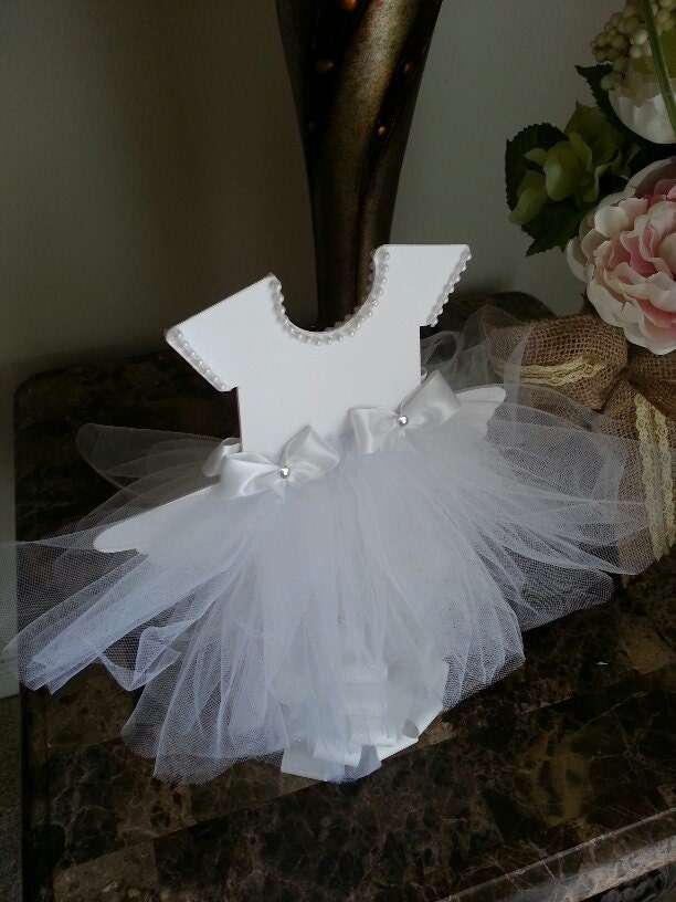 double sided white tutu dress centerpiece by thecarriageshoppe