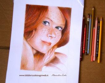 Portrait - Texture Effect - Colored Pencils