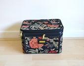 Vintage Floral Tapestry Vanity Travel Case