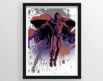 Magneto Graffiti Paint Splatter Style Poster - A3 and 13 x 19 Available