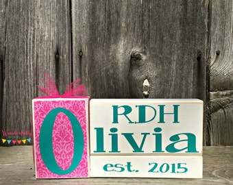 Personalized Established Nurse RDH Registered Dental Hygienist Gift Graduation Gift Christmas Gift