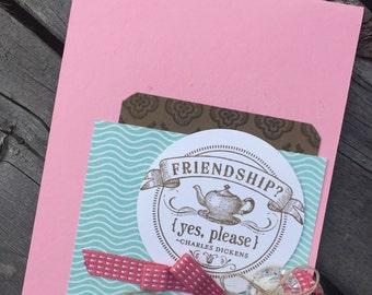 Feminine Frills Handmade Friendship Card