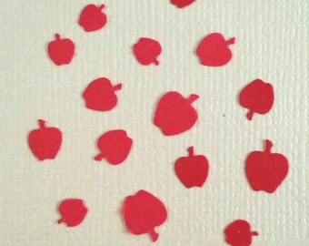 Tiny Apples! Confetti for table decor, scatter, invitations, party favor, greeting card inserts, or scrapbooks die cuts 100 count