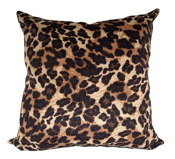 Animal Print Throw Pillow Covers : Leopard Print Decorative Pillow Cover Throw by PillowTimeGirls