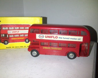Vintage Diecast Budgie Routemaster Double Decker Bus Model No.236  AEC  Esso Uniflo