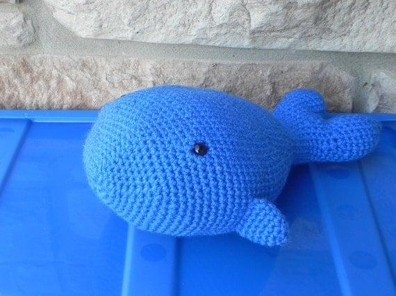 Whale Amigurumi Blue : Blue whale plushy Crochet blue whale Blue Amigurumi whale