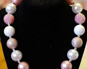 Light Pink Chunky Bubblegum Necklace