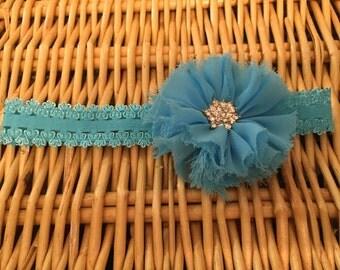 Turquoise Ballerina Flower Headband