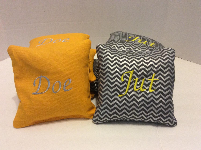 Personalized Cornhole Bags Wedding Corn Hole Bags