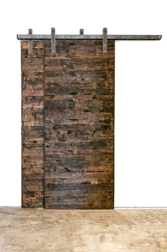 Bypass Industrial Classic Sliding Barn Door Closet Hardware From Thewhiteshanty On Etsy Studio