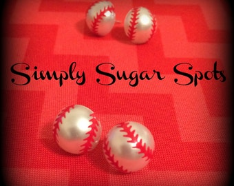 Baseball Pearl Earrings