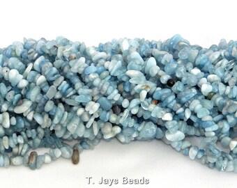 Aquamarine Beads 5x8mm on String