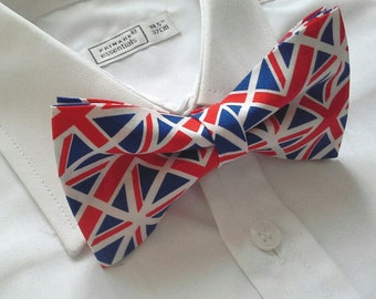 British flag union jack bowtie patriotic national bow tie