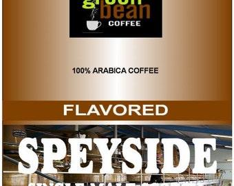 "Fresh roasted coffee, Speyside, Single Malt Scotch Flavored Coffee, ""Proclaim a toast to good taste"" 12oz(350g)"