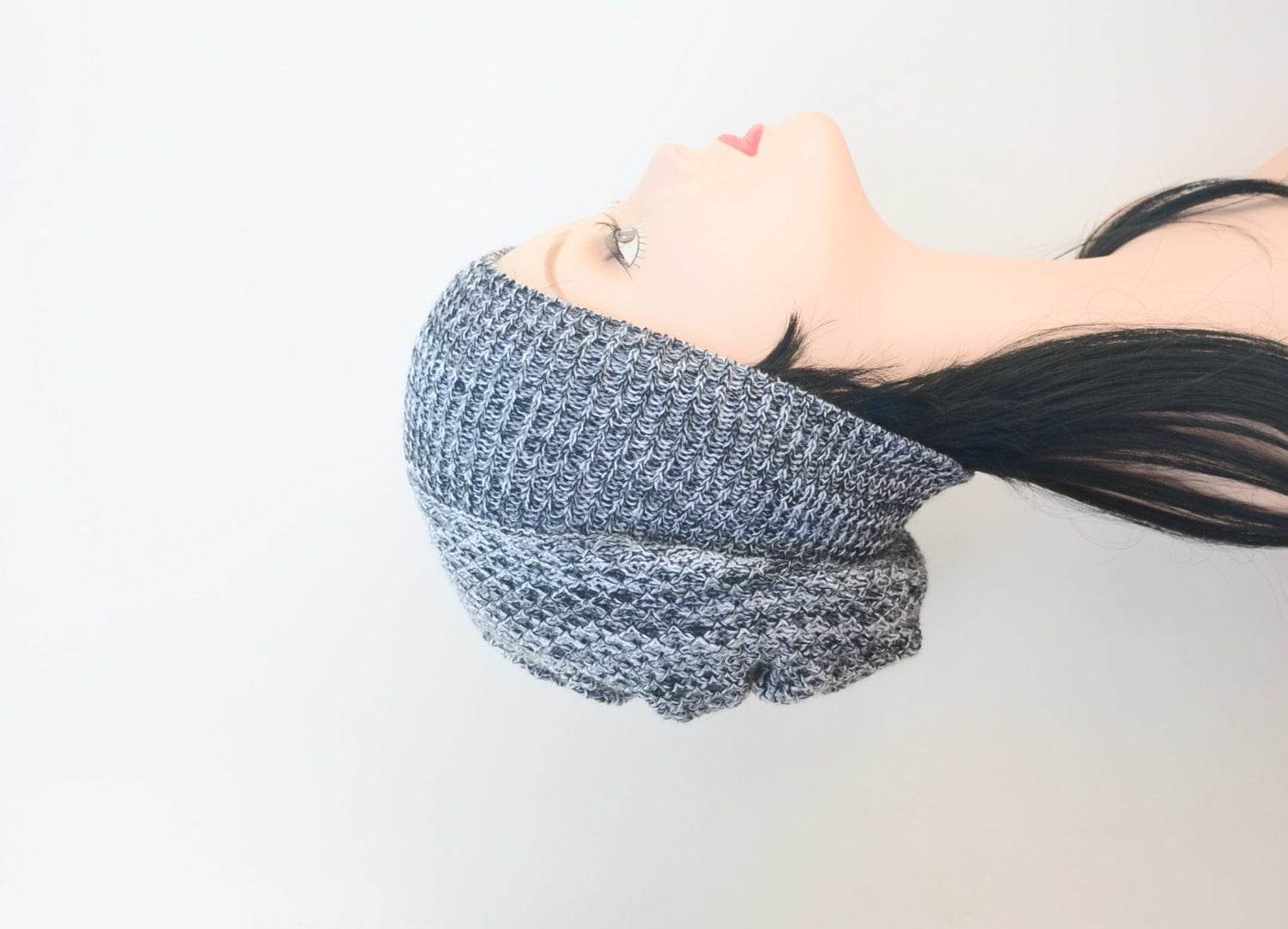 grey slouchy beanie s knitted hat slouch hat by