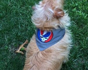 Grateful dead dog scarf