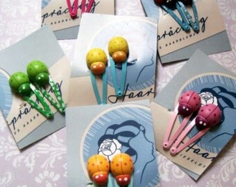 Hairclips with Ladybugs