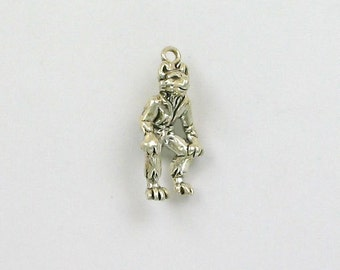 Sterling Silver 3D Wolfman Monster Charm - ff76