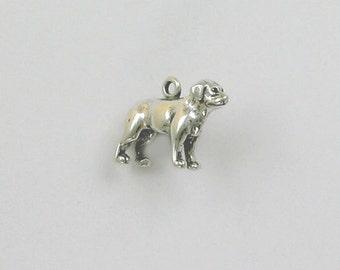 Sterling Silver 3D Labrador Retriever Charm - dc105