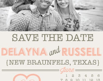 Save the Date // 5X7 // Calendar Save the Date