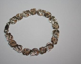 6 in Vintage Rose  Bracelet   Elegant   Bridal Jewelry