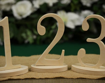 Table Number- Weddings / Decor - Table Numbers- Table Number \ 1 to 30set \ Wedding Table Numbers Free Standing