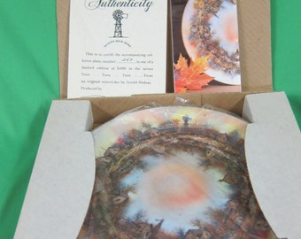 Autumn Back Home Collector Plate - Jerold Bishop Turn Turn Turn Series
