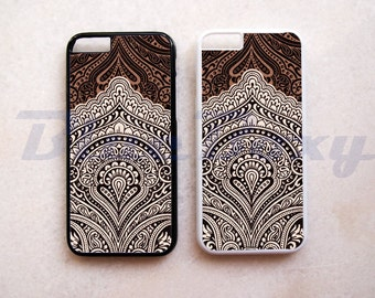 Vintage Brown Pattern - iPhone 8, iPhone X, iPhone 7, iPhone 7 Plus, iPhone 6, iPhone 6s, iPhone 6 Plus, 6s Plus, iPhone 5/5s, iPhone 4/4s
