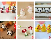 3PCS Tiny Stuff Animals for DIY Glass Globe/Bottle jewelry making,Lovely Charms