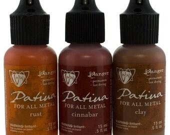 Vintaj Patina Ink Set - 3 Colors - Rusted Hardware  (PM4102)