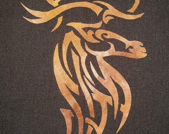 Celtic Elk Quilt Applique Pattern Design