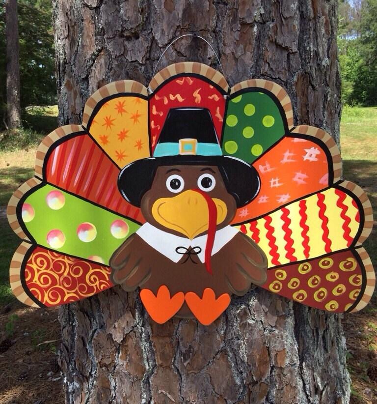 Turkey Door Hanger Unfinished: Turkey Door Hanger Thanksgiving Turkey Door Hanger Fall Door