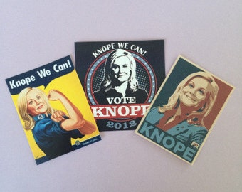 Leslie Knope Campaign Inspired Stickers