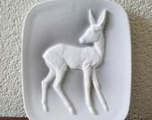 Mid century Modern Porcelain Wall plate Deer Bambi fifties Alka kunst Bavaria W. Germany