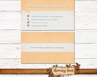 Business card design - Custom business cards - Simple minimalistic calling cards Front and Back design