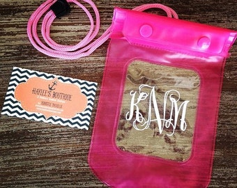 Keep it Dry Pouch - Marathon - Boating - Pool - Beach - Lake - River - Waterproof - Cell Phone Case - Lanyard - Monogram - Personalized Gift
