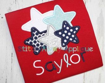 Lotsa Stars Patriotic 4th of July Machine Applique Design
