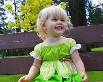Tinker Bell/Fairy Princess Toddler Dress
