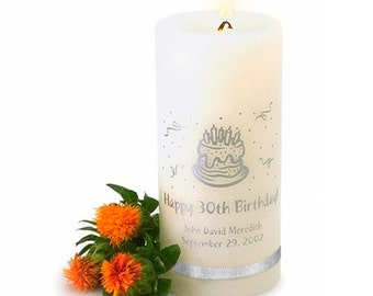 Personalized Birthday Candle- Custom Birthday Candle (323)