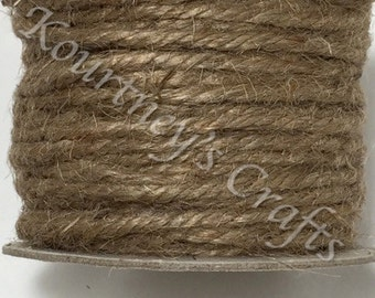 3mm Natural Jute Twine Rope Cord Non-Polished 3mm 22.86M/Roll (Approx. 25 Yard) (75 feet)