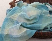 150cm / 59 inch Width, Cute Gradient Check Cotton Yarn Fabric, Half Yard, #116
