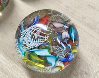 Glass Paperweight - Unmarked - Very Well Made