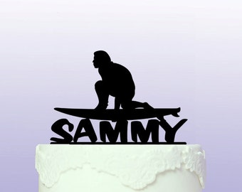 Personalised Surfing Cake Topper