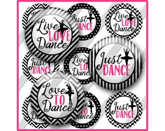 Dance Bottle Cap Image Sheet, Ballet, Ballerina, Sayings Printable