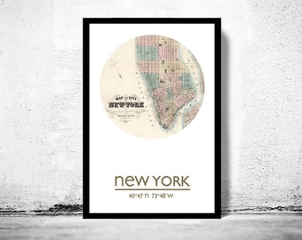 NEW YORK (2) - city poster - city map poster print