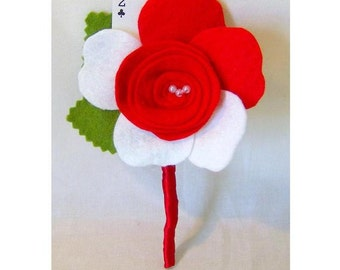Alice in Wonderland Felt Boutonniere