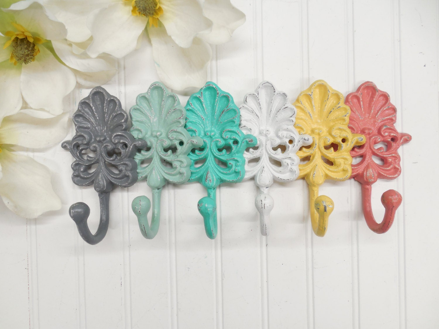 Colorful Wall Hooks you pick colors-set of 3 hooks/ coat hook/shell hook/wall
