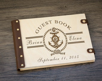 Custom Guest Book, Nautical Wedding, Beach Wedding, Wedding Guest Book, Guest Book, Wedding, Wood Guest Book, Guestbook, Guest Book Ideas